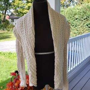 Cynthia Rowley cream knit cardigan